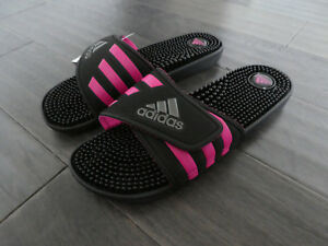 Women s Adidas Adissage W slides sandals new black pink BB3728  0a2900d17