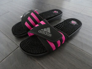 4d9c408d13f4a Women s Adidas Adissage W slides sandals new black pink BB3728