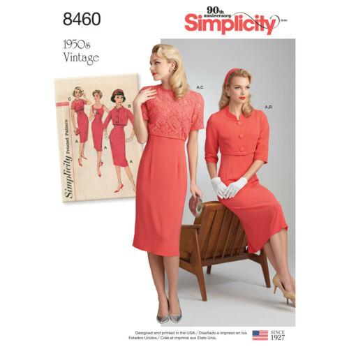 Sizes 6-28W SIMPLICITY VINTAGE 1950s SERIES Misses Retro Sewing Patterns UPick