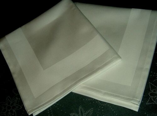 10 Stoffservietten Serviette Napkin 40x40 weiß    Baumwolle  Atlaskante