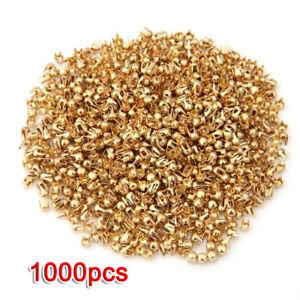 1000x-Kupfer-2-5mm-Mini-Krallennieten-Ziernieten-Schmucknieten-goldenfarbe-F3G6