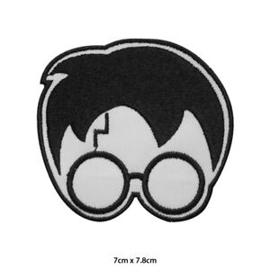 Harry-Potter-Scar-Face-Embroidered-Patch-Iron-on-Sew-On-Badge-For-Clothes-etc
