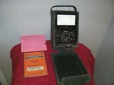 Vintage Simpson Vom Model 260 Series 7 Original Case And Manual Sales Slip
