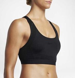 f46c71dc0c4 Nike Pro Hyper Classic Padded Medium Support Sports Bra Black Size ...