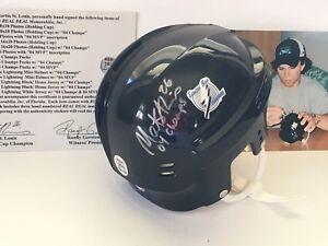 Martin-St-Louis-NHL-Mini-Helmet-Signed-Photo-Signature-Stanley-Cup-Champs-COA