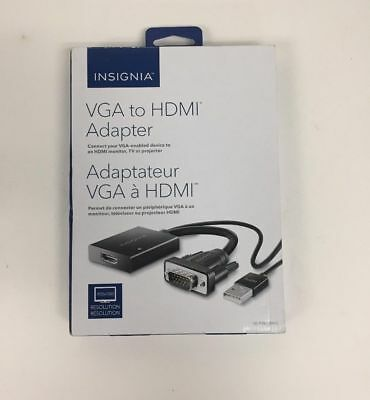Insignia VGA to HDMI Adapter NS-PV8795H-C BIN#54 Model #