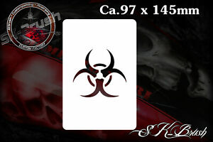 Biohazard-Biological-Airbrush-Schablone-Stencil