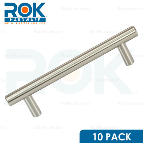 """10 PACK 4-1//4/"""" hole Center Brushed Nickel Cabinet Pull Handle 5-13//16/"""" Length"""
