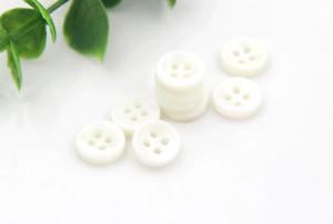lot 10 bouton blanc rond 4 trou 20 mm couture scrapbooking création art créatif