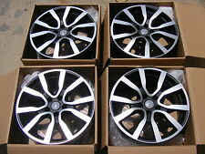 "NEW 4PC SET 18"" AUTOBAHN STYLE WHEELS ET35 +35 OFFSET RIMS 5x112 BLACK FIT AUDI"