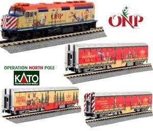 New-Kato-N-Scale-Train-4-Unit-Set-Operation-North-Pole-Christmas-106-2015