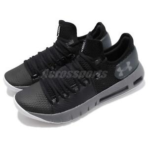 Under Armour HOVR Havoc Low Black Grey Mens Basketball Shoes 3020618 ... 86455b3d067