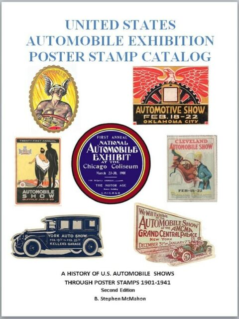 Second Edition United States Automobile Exhibition Poster Stamp Catalog Auto Car