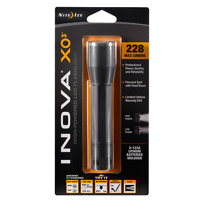 Dual Mode Nite Ize Inova X03 LED Flashlight XO3 Black Body
