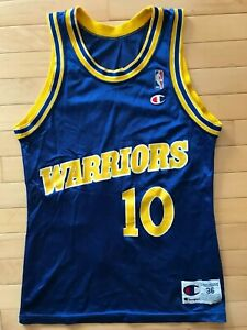 best sneakers 1eeee c7ee2 Details about VTG Champion Golden State Warriors Tim Hardaway NBA  Basketball Jersey Sz 36 S