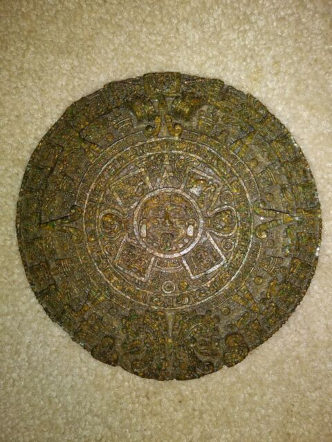 "Aztec Solar Sun Mayan Calendar Wall 7"" Plaque Tenochtitlan ..."