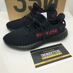 Details about ADIDAS YEEZY 350 V2 BOOST BLACK BRED RED UK US 8.5 9 9.5 42.5 CP9652 MENS OG