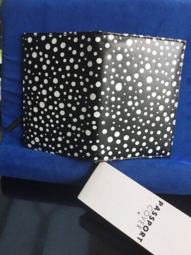 Paperchase Black With White Spots Passport Cover Bnwt