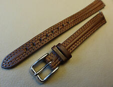 New Ladies Timex Brown Padded Genuine Leather 12mm Regular to LONG Watch Band