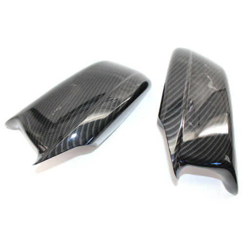 Carbon Fiber Style Door Side Mirror Cover Caps For BMW F10 Pre-LCI 2011-2013 CAO