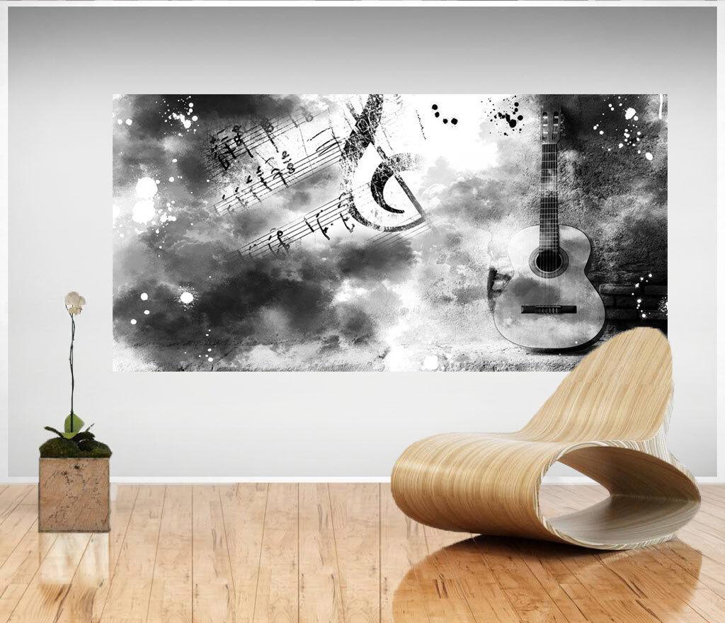 Wandbilder Gitarre Musik Noten Bild Leinwand Abstrakte Kunst Bilder D1572