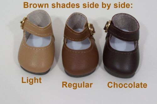 "LT BROWN Snazzy Doll Shoes For 14/"" American Girl Wellie Wisher Wishers Debs"