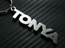 TONYA nom personnalisé Porte-clé porte-clé Sur-mesure Acier Inoxydable Cadeau