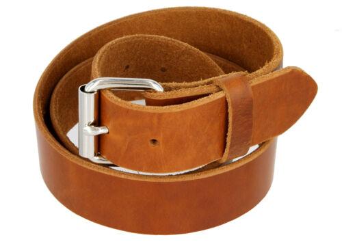 """Men/'s Full Grain One Piece Heavy Duty Leather Gun Belt 1-1//2/"""" Wide Made In USA"""