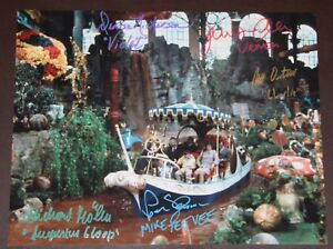 11-034-X-14-034-WILLY-WONKA-BOAT-SCENE-AUTOGRAPHED-SIGNED-BY-FIVE-BONUSES