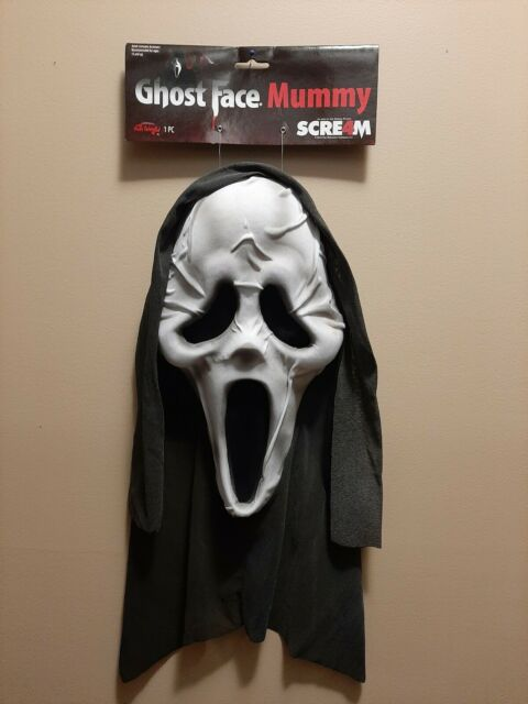 Horror Halloween Official Scream 4 Mummy Fun World scream mask and  hood