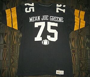 competitive price b5a96 e934b Details about Vintage Pittsburgh Steelers Mean Joe Greene Heavy T-Shirt  Football Jersey Large