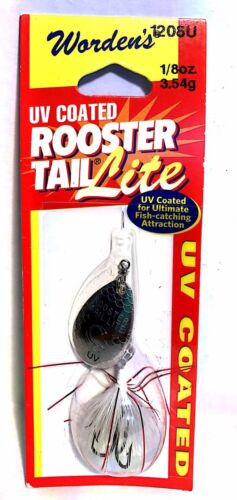 Worden/'s Rooster Tail Lite 1//8 oz Tinsel White Spinner Fishing Lure