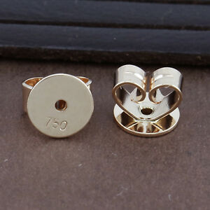 Image Is Loading Genuine 18ct Solid Rose Gold Disc Erfly Earring