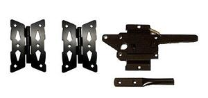 3pc Wood Fence Gate Kit with Butterfly Hinge