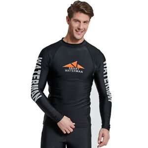 fe880c9fe8d01 Men's Long Sleeve Rash Guards UV Protection Quick-Dry Surfing ...