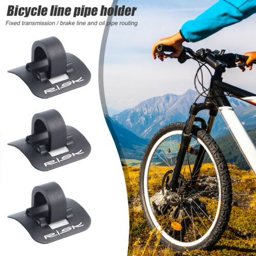 6pcs RISK Bicycle Cable Housing Fixed C Clip Brake Shift Cable Frame Holder