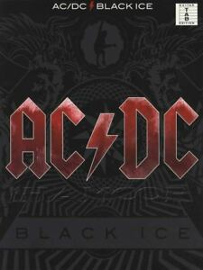 Ac/dc Black Ice Guitar Tab Music Book Angus Young Rock Métal Argent Made Décibel-afficher Le Titre D'origine
