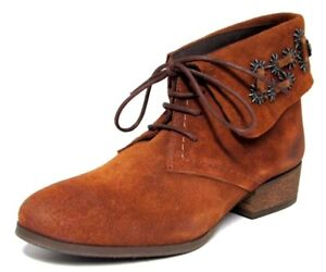 0bf2e56db526 LOW BOOTS DERBIES 41 daim cuir camel lacet revers COULEUR CAFE femme ...