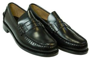 Men's Sebago Black Classic Penny Loafers 10AAA (EXTRA ...