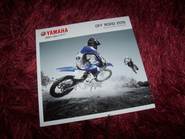 Bescheiden Prospectus / Brochure Yamaha Gamme / Full Line Off Road 2015 // Goederen Van Hoge Kwaliteit