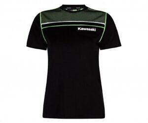Dynamique Kawasaki Sport T-shirt Femmes Noir Shirt Manches Courtes Nouveau-afficher Le Titre D'origine Jouir D'Une Haute RéPutation Sur Le Marché International