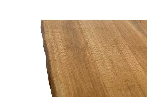 60cm Holzplatte Tischplatte Eichenplatte Eiche Tisch massiv  Baumkante Antique