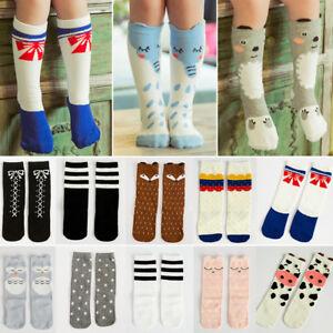e3d23a440 27 Cute Styles Cartoon Cat Fox Panda Children Kids Knee High Socks ...