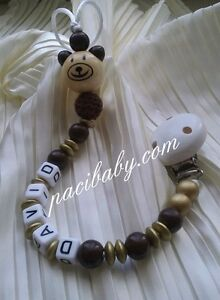 custom made wooden pacifier clip