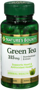 Nature's Bounty Green Tea 315 mg | Standardized Extract - 100 Capsules