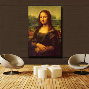 Leonardo-Da-Vinci-034-Mona-Lisa-Smile-034-HD-print-on-canvas-huge-wall-picture-31x47