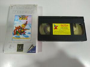Pedro-y-el-Lobo-Walt-Disney-Mini-Clasicos-VHS-Cinta-Espanol-2T