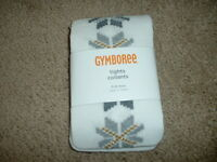 Baby Girl Gymboree Snowflake Glamour Glitter Tights Size 6-12 Months Mos