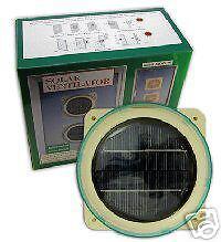 FOR CARAVAN,BOAT,GREENHOUSE ETC.FREE EXTRA FIXINGS KIT SOLAR  VENTILATOR