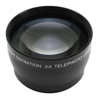 62mm 2.0X 2X Magnification Tele Telephoto Lens fr Canon Nikon Pentax DSLR Camera